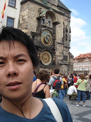 Me at the Astronomical Clock