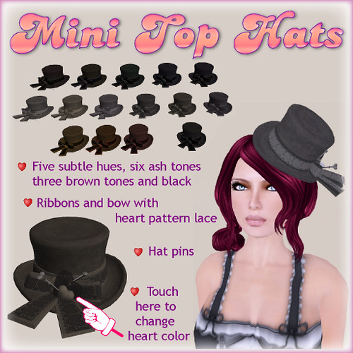 JUICY Mini Top Hats by you.