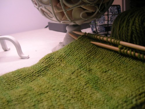 Emerald Sleeve in progress