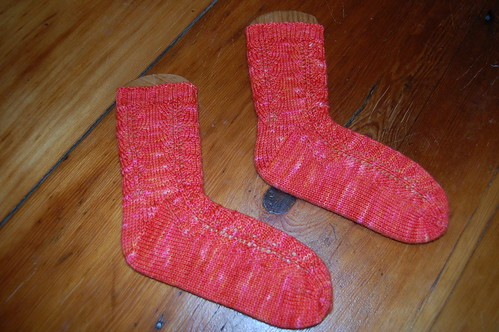 Southwestern toe-up socks