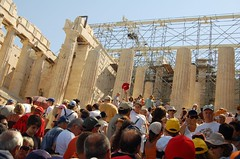The masses at the Parthenon