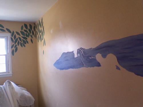 mural progress 1-4-09