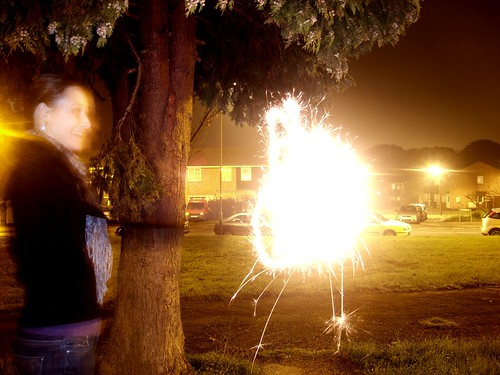 Sparklers by Night