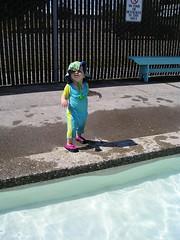 lola at the pool