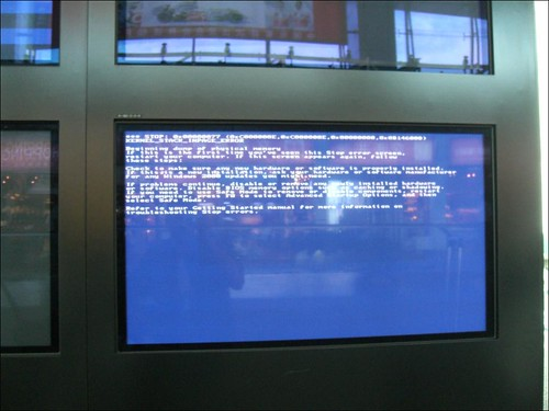 Blue screen of death on airport