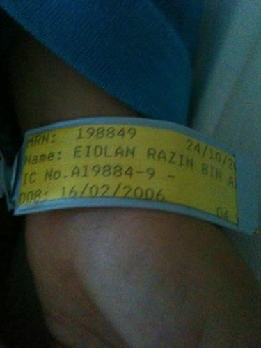 In hospital again