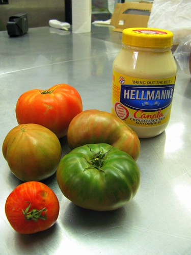 Tomato Mise en Place for BLTs