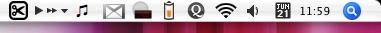 OSX Menubar