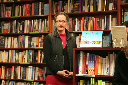Melanie Ostell at the launch of Behind the Night Bazaar