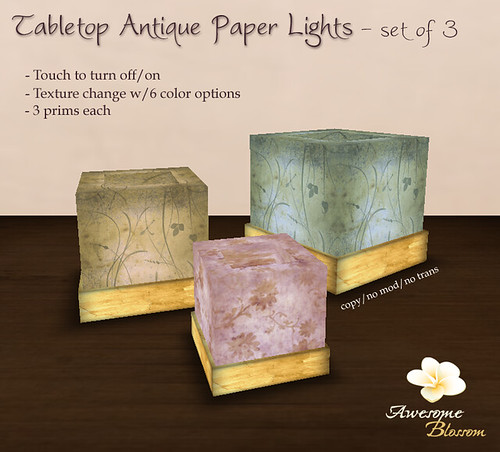 :: Awesome Blossom :: Tabletop Antique Paper Lights