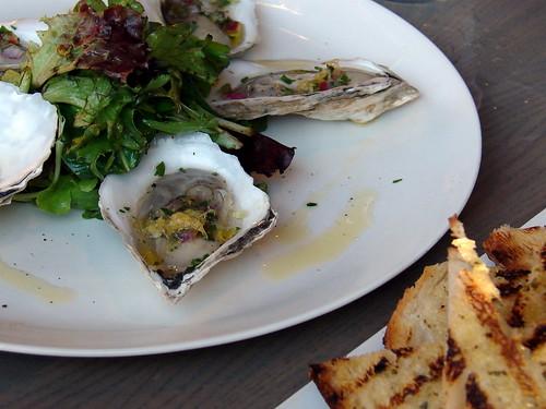 oysters with caper gremolata