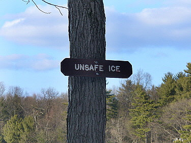 Unsafe ice