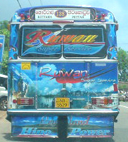 Painted bus, Colombo