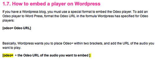 How to embed a player on WordPress