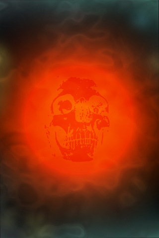 iPhone wallpaper - red sun