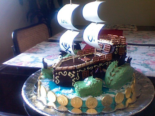 pirate ship and dragon