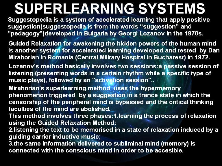 superlearning systems