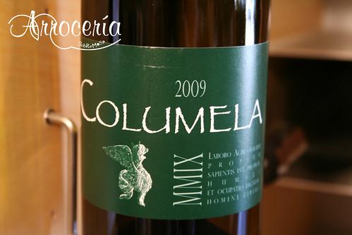 Columela 09 - Rueda. Segundo vino de Ossian. Verdejo distinto, más vegetal, nada cansino, delicioso.