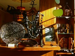 the leather neckpiece & marsha trattner's hand forged bowl