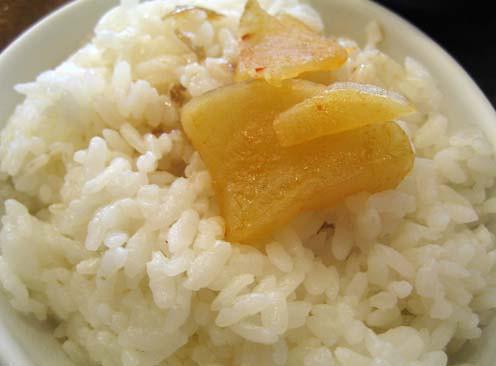sauce radish on rice