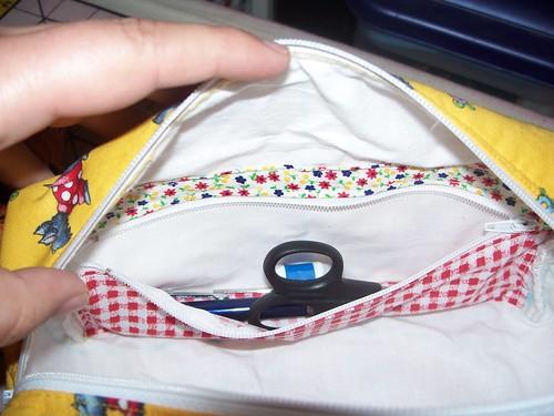 Inside zipper notion pocket!