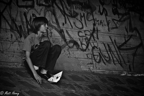 boy on writing by Matt Hovey