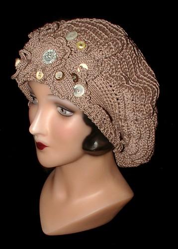 Irish crochet tam