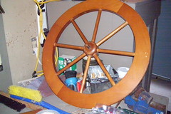 Spinning wheel parts -- wheel close-up
