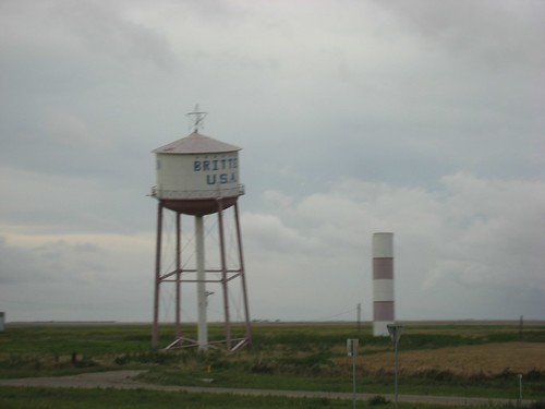 Tilted Water tower at Britten, Texas