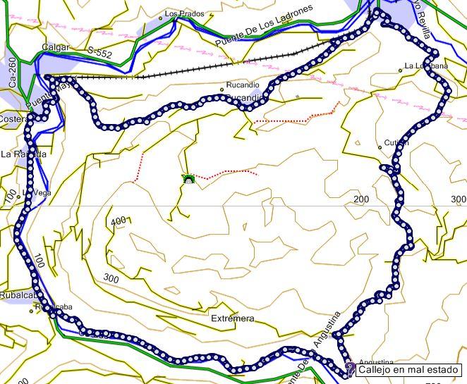 Mapa del PR S-24 Picos de Busampiro (Cantabria)