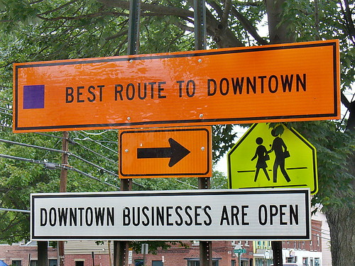 Best route downtown