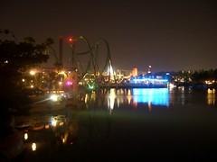 Islands of Adventure at Night