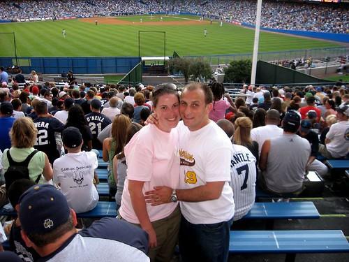 me and joe at yankees game crop