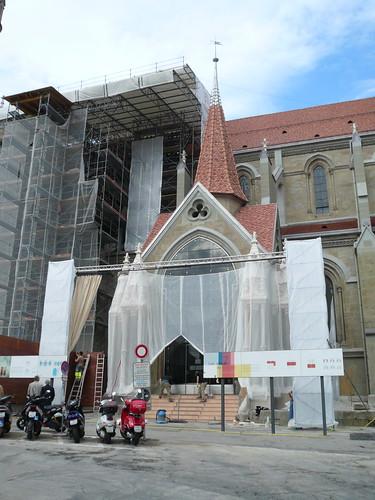 Portail peint Cathédrale (26 septembre 2007)