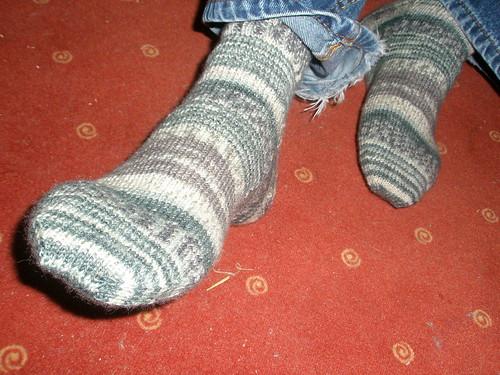 Hubby's Hedwig socks