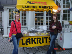 Stockholm, city center, small shop selling lakrids candies