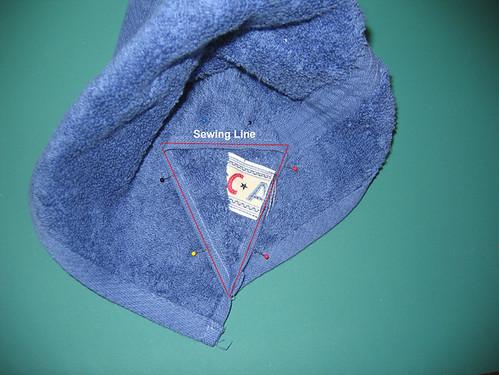 Hooded Towel Tut: Step5-