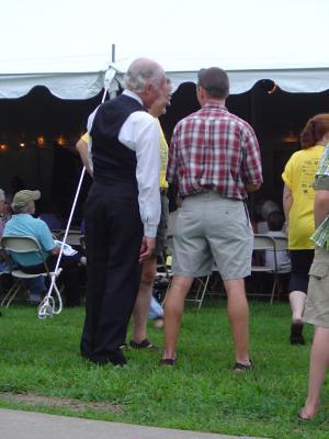 William Jennings Bryan works the crowd