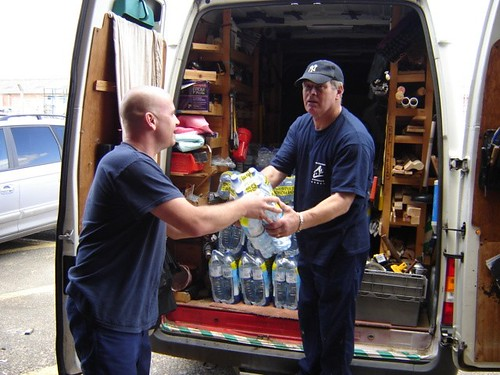 Cheltenham Borough Homes staff deliver water to their tenants