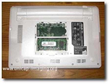 Asu EeePC (retro- Slot RAM)