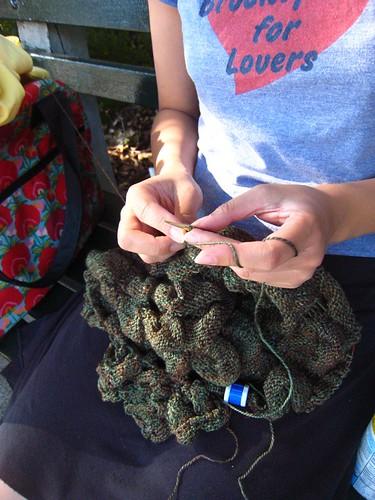 Knitting at the Park