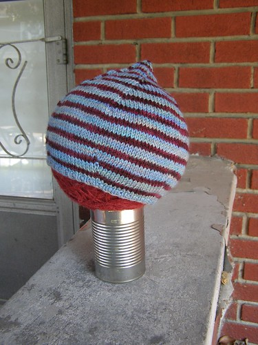 nautical striped tulip bulb hat