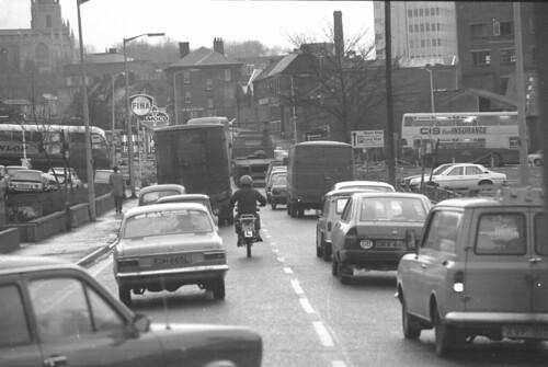 Rush Hour Traffic Walsall 1982