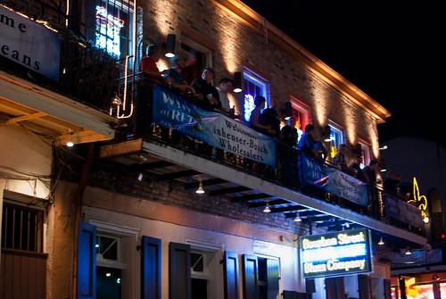 Bourbon Street revelers