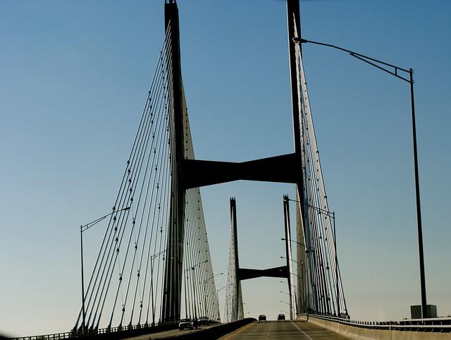 Driving over Bridge