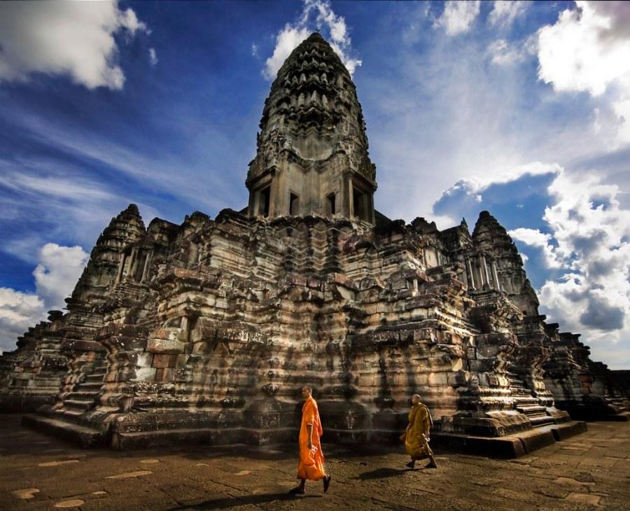 Buddha Stroll Through Angkor Wat