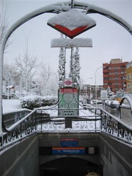 metro en invierno