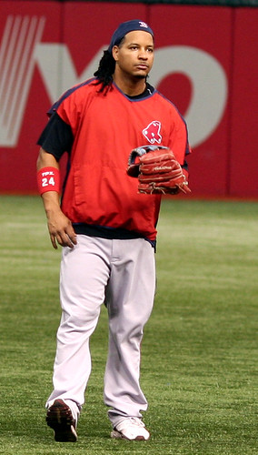 Manny Ramirez with the Boston Red Sox. By Terry Foote on Flickr.com.