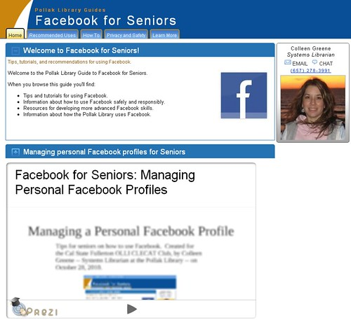 "My Pollak Library ""Facebook for Seniors"" Guide"