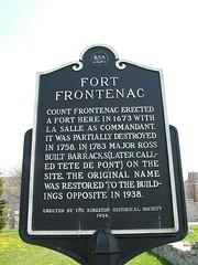 Fort Frontenac sign